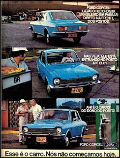propaganda Ford Corcel - 1974, Ford Willys anos 70, carro antigo Ford, década de 70, anos 70, Oswaldo Hernandez,