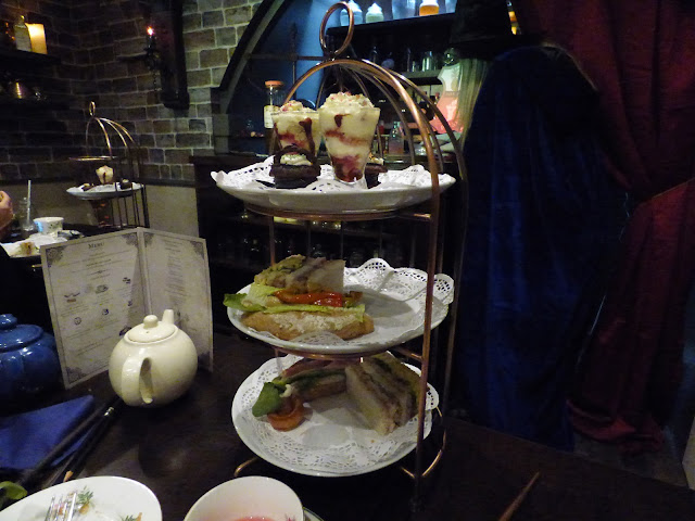 The Potion Room wizard themed Harry Potter afternoon tea at Cutter & Squidge, Soho, London