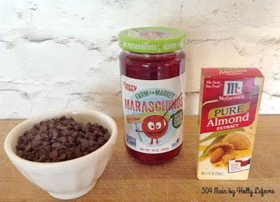 chocolate cherry almond scones