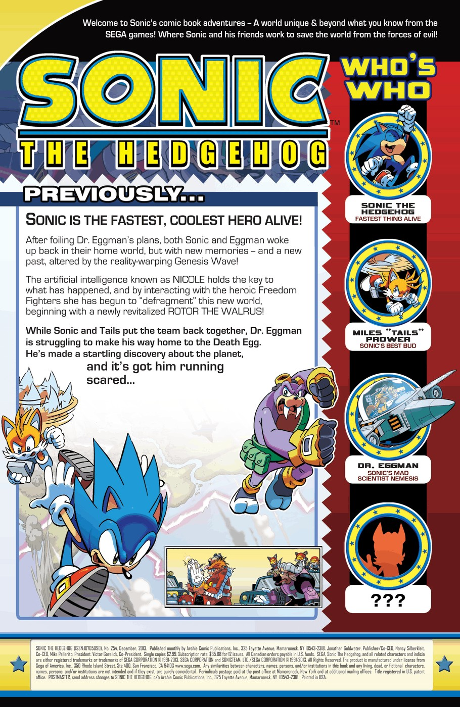 Read online Sonic The Hedgehog comic -  Issue #254 - 2
