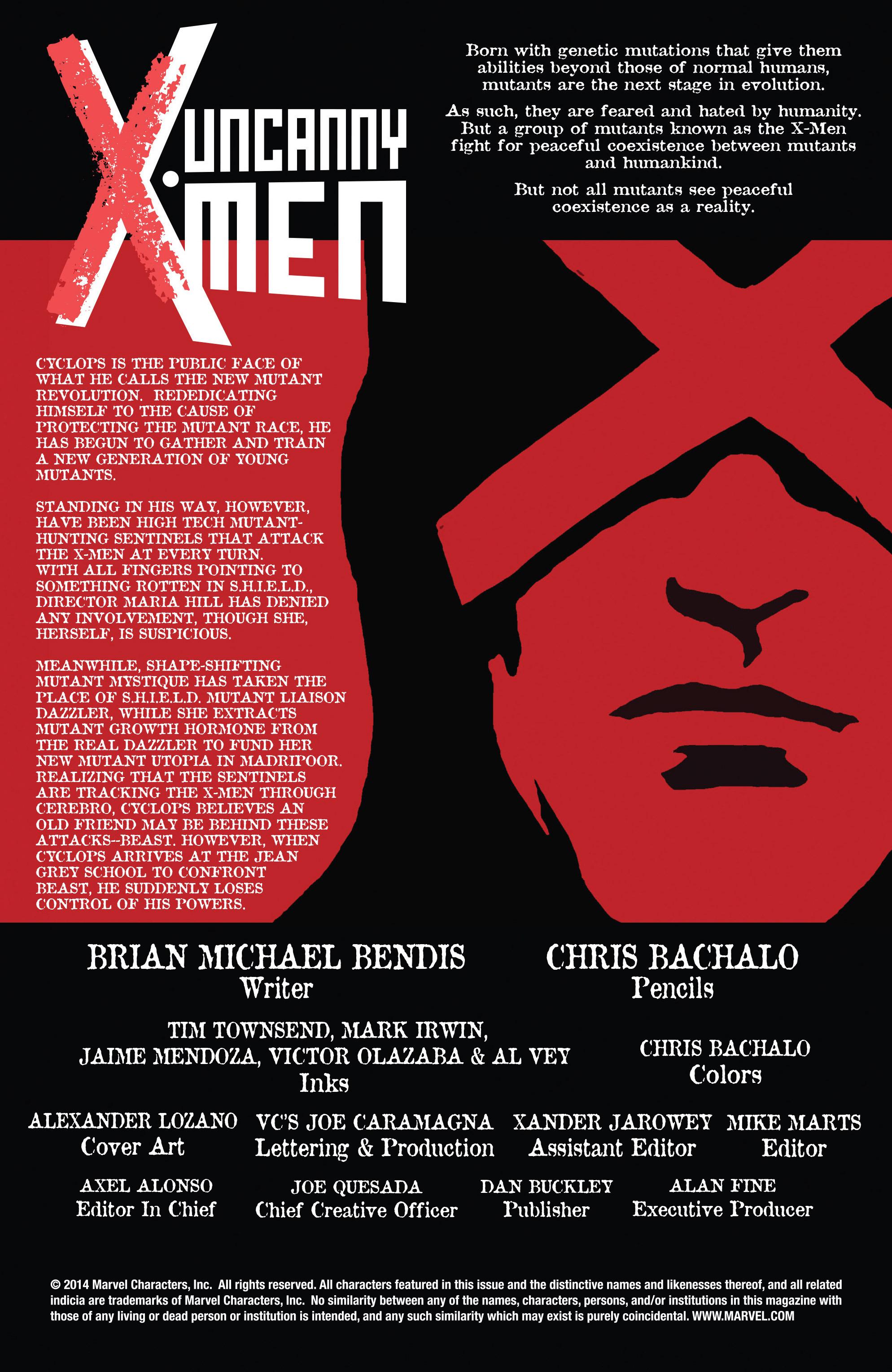 Read online Uncanny X-Men (2013) comic -  Issue #21 - 2