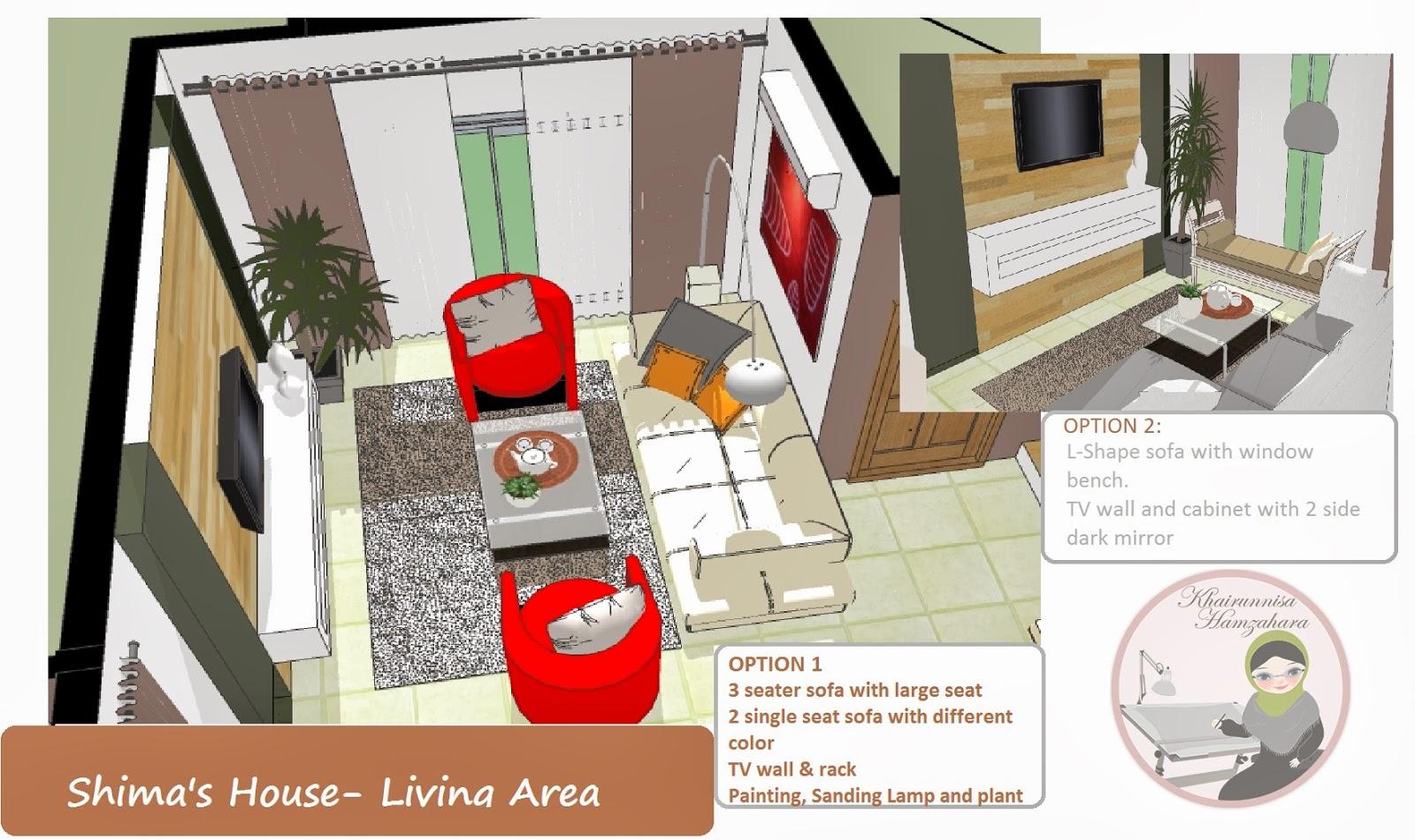 Perkhidmatan Rekabentuk Online Hiasan Dalaman Teres Dua Tingkat Decoration Ruang Tamu Rumah