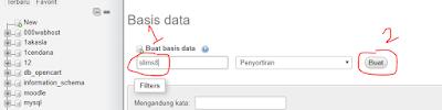 buat database
