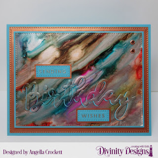 Divinity Designs Stamp/Die Duos: Birthday, Custom Dies: Pierced Rectangles