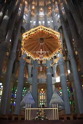 Apse of Sagrada Familia in Barcelona
