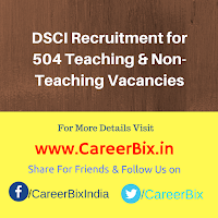 DSCI Recruitment for 504 Teaching & Non-Teaching Vacancies