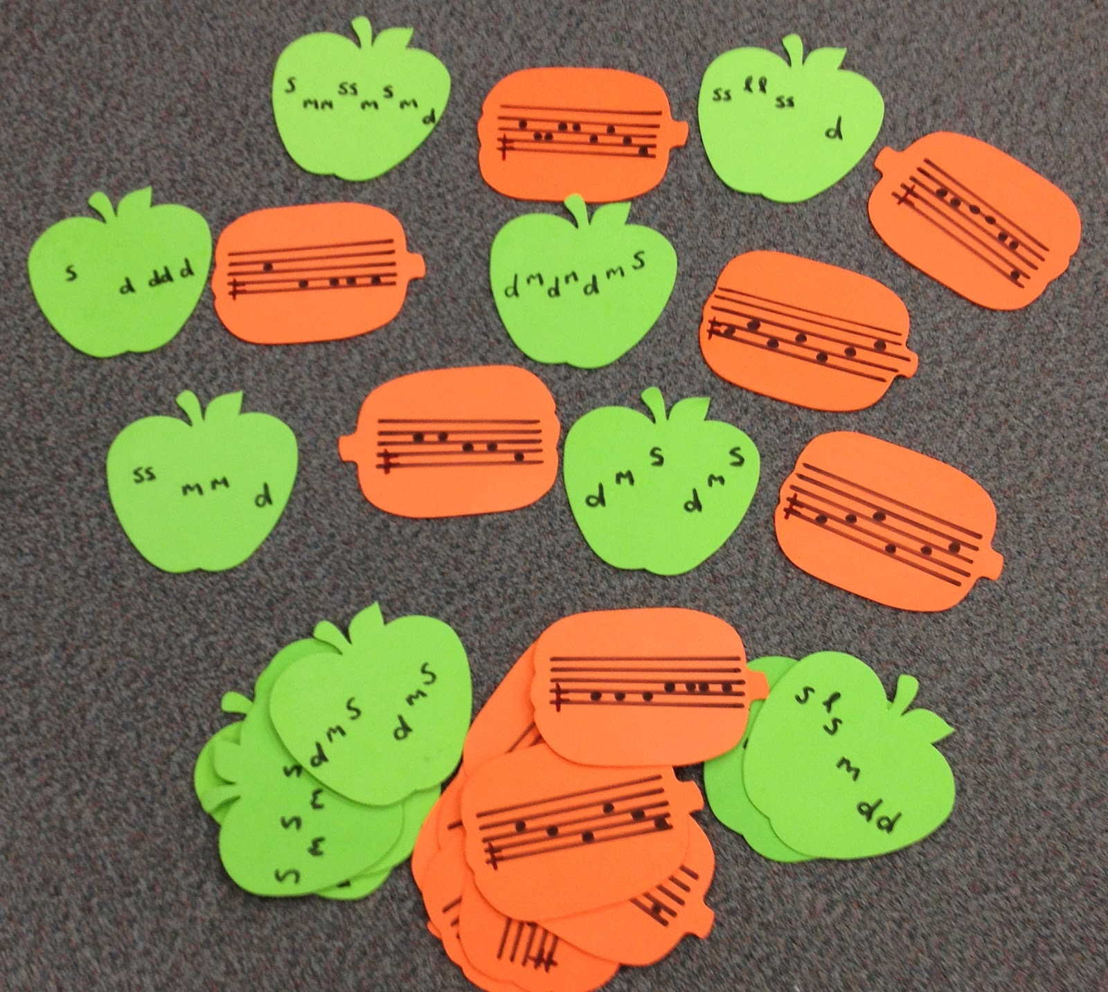 Teaching Music Tanya S Kodaly Aspiring Blog Apple And Pumpkin Melody Match