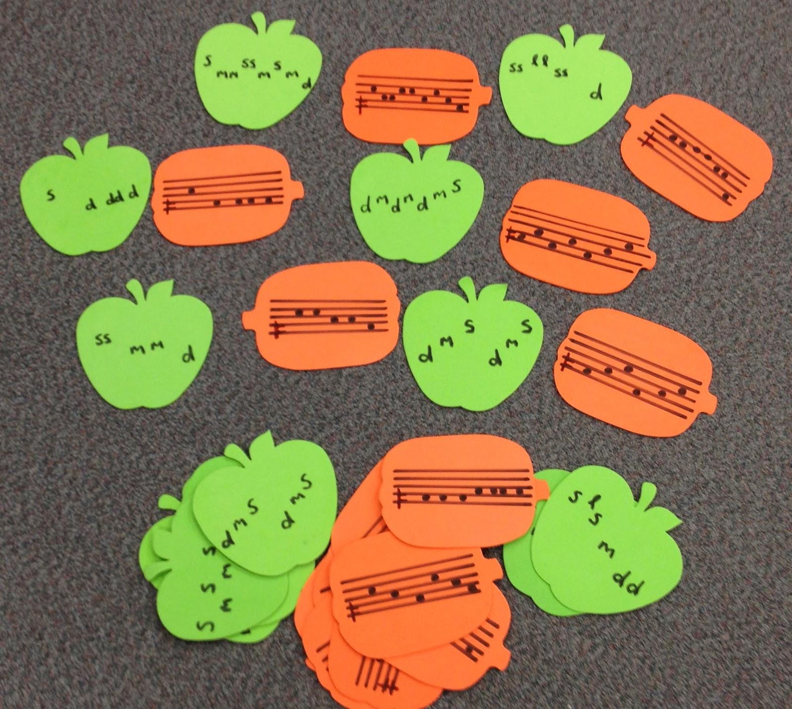 Teaching Music Tanya S Kodaly Aspiring Blog Apple And Pumpkin Melody Match