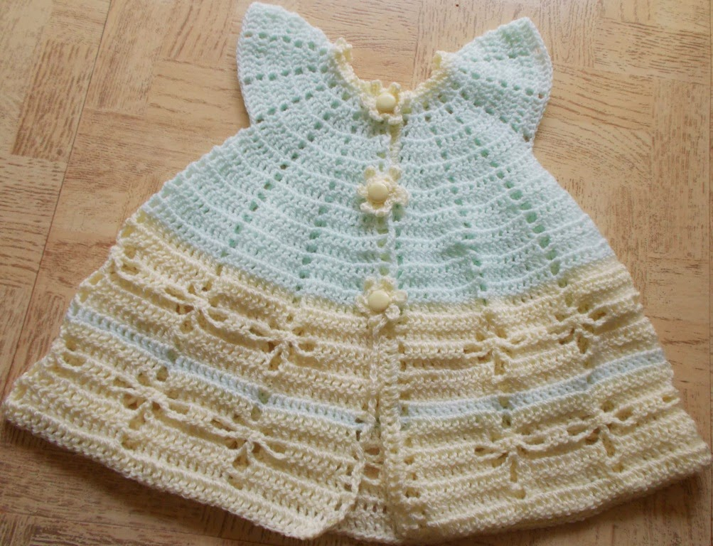 free crochet baby dress pattern