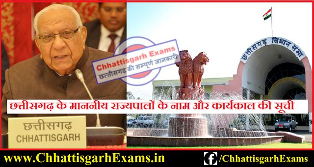 List of all governors of Chhattisgarh