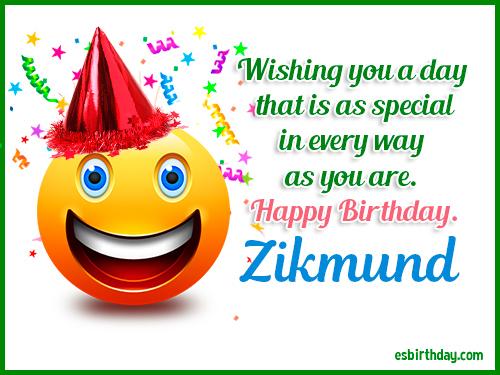 Zikmund Happy Birthday