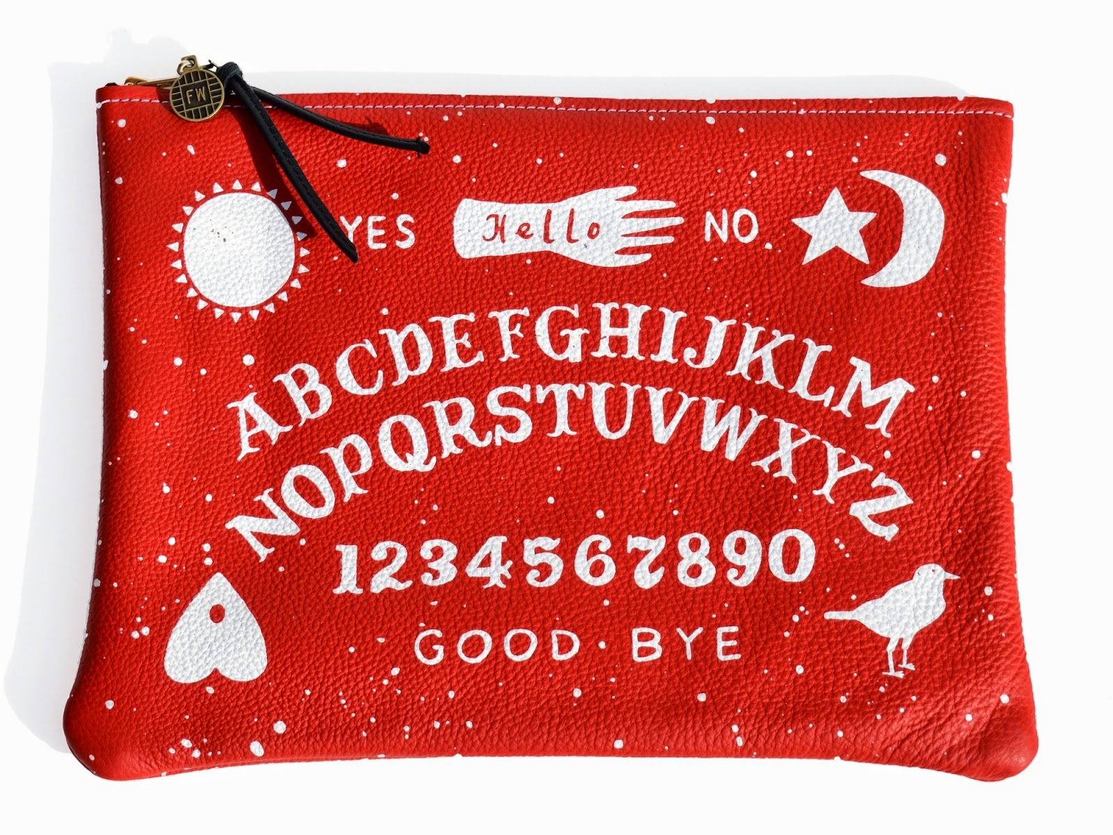 uk style fashion blog ouija print clutch