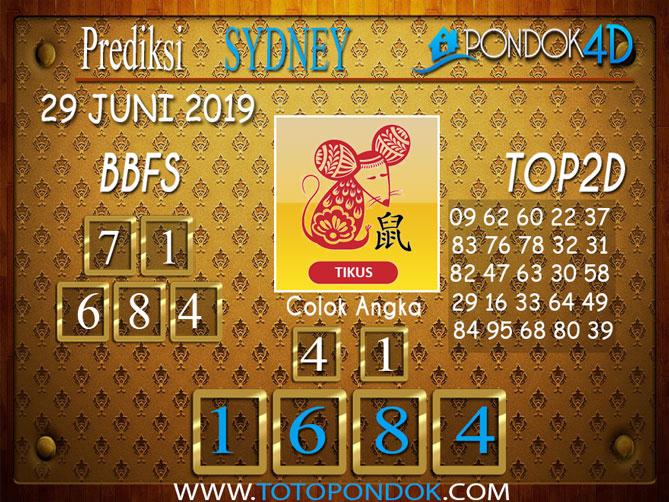 Prediksi Togel SYDNEY PONDOK4D 29 JUNI 2019