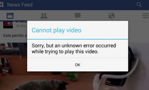 videos wont play on facebook