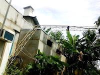 Angin Kencang, Satu Tower Radio Setinggi 40 Meter Di Sekadau Tumbang