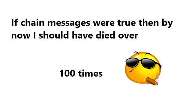 whatsapp funny chain messages