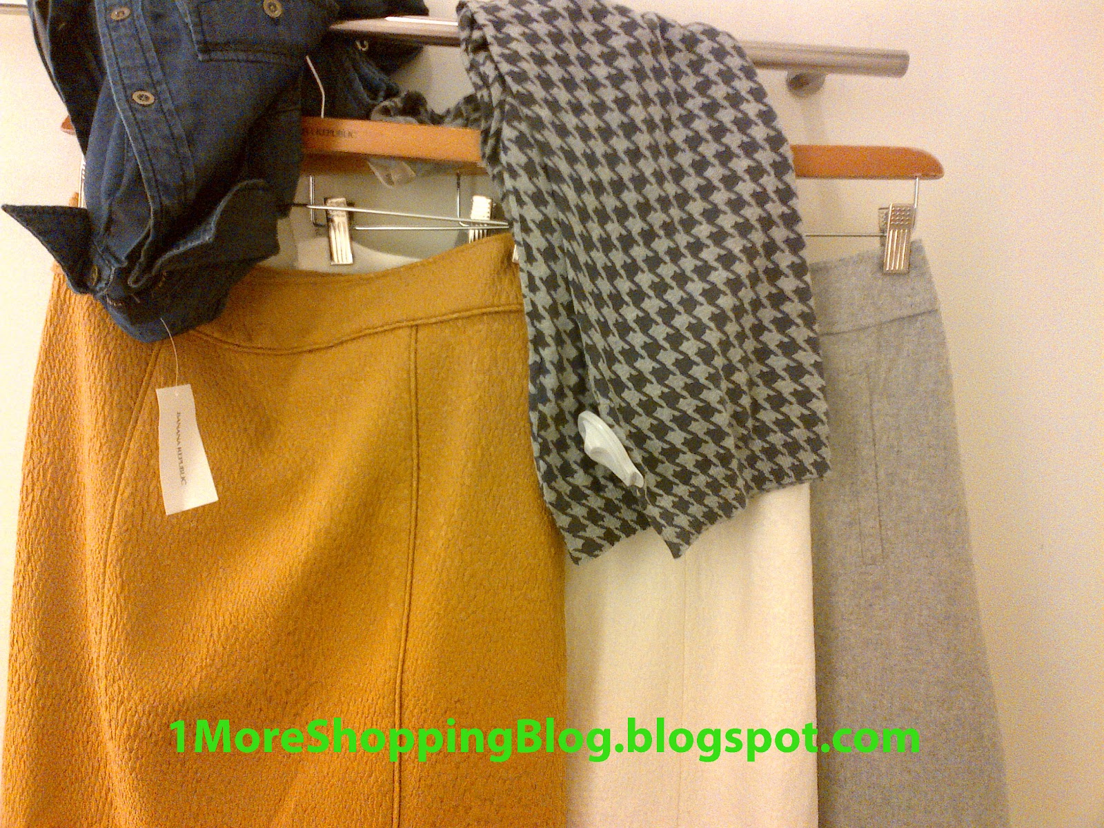 1c6fcad9a1 A handful of items caught my attention, among them this Solid Textured  Pencil Skirt (size 2) styled with the Soft-Wash Denim Shirt size S. I tried  this ...