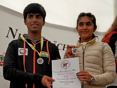 Esha Singh and Akull Kumar won Silver in International Shooting