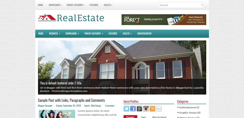 RealEstate Free Blogger Template