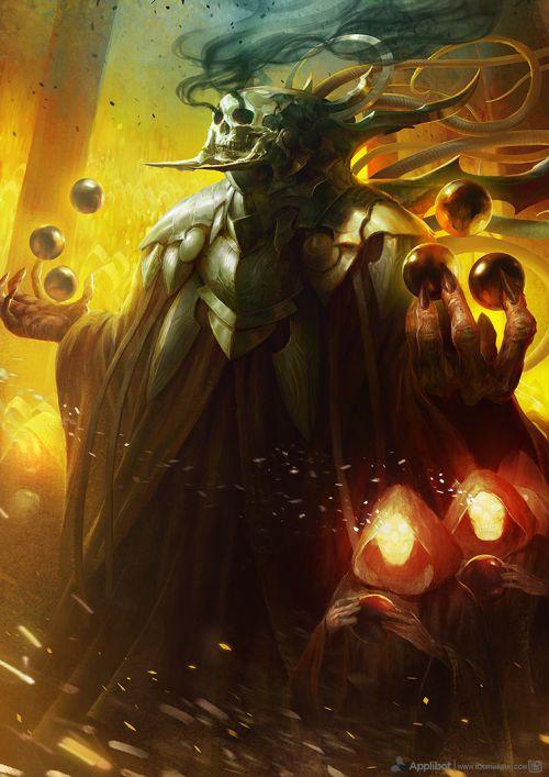 Bjorn Hurri ilustrações artes conceituais fantasia games Applibot - Keeper of Souls Advanced