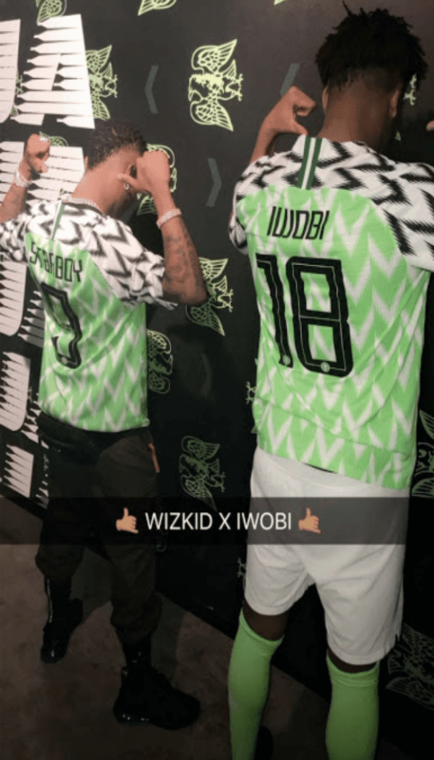 Wizkid the Starboy joins Super Eagles players to unveil Russia 2018 ... 2c5245af0