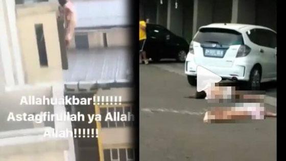 Video Detik-Detik 2 Wanita Loncat Dari Apartemen Gateway Bandung