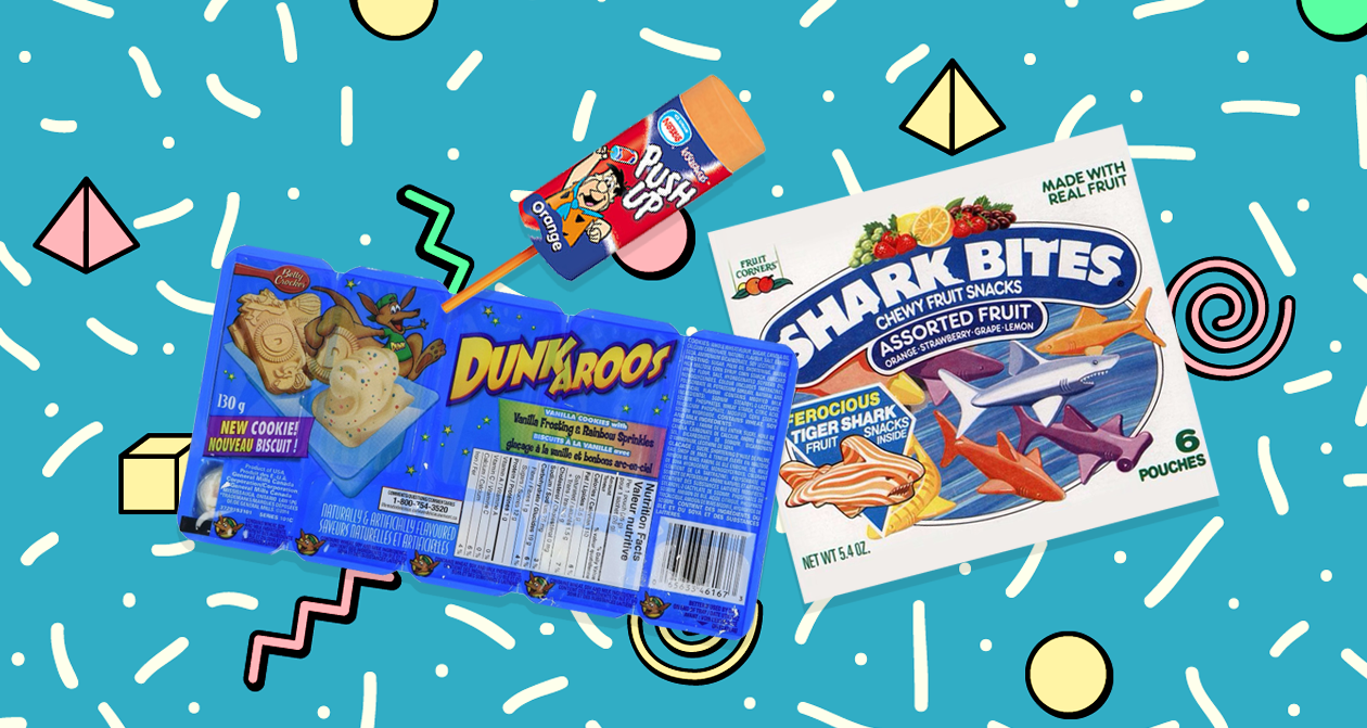 push pops, dunkaroos, shark bites, 90s