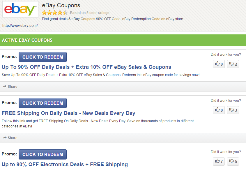 Coupon Code For Ebay Ebay Redemption Code March 2016
