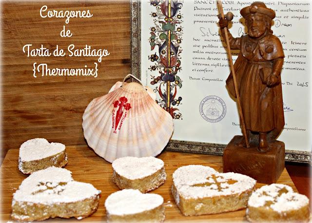CORAZONES DE ♥♥TARTA DE SANTIAGO♥♥ {THERMOMIX}