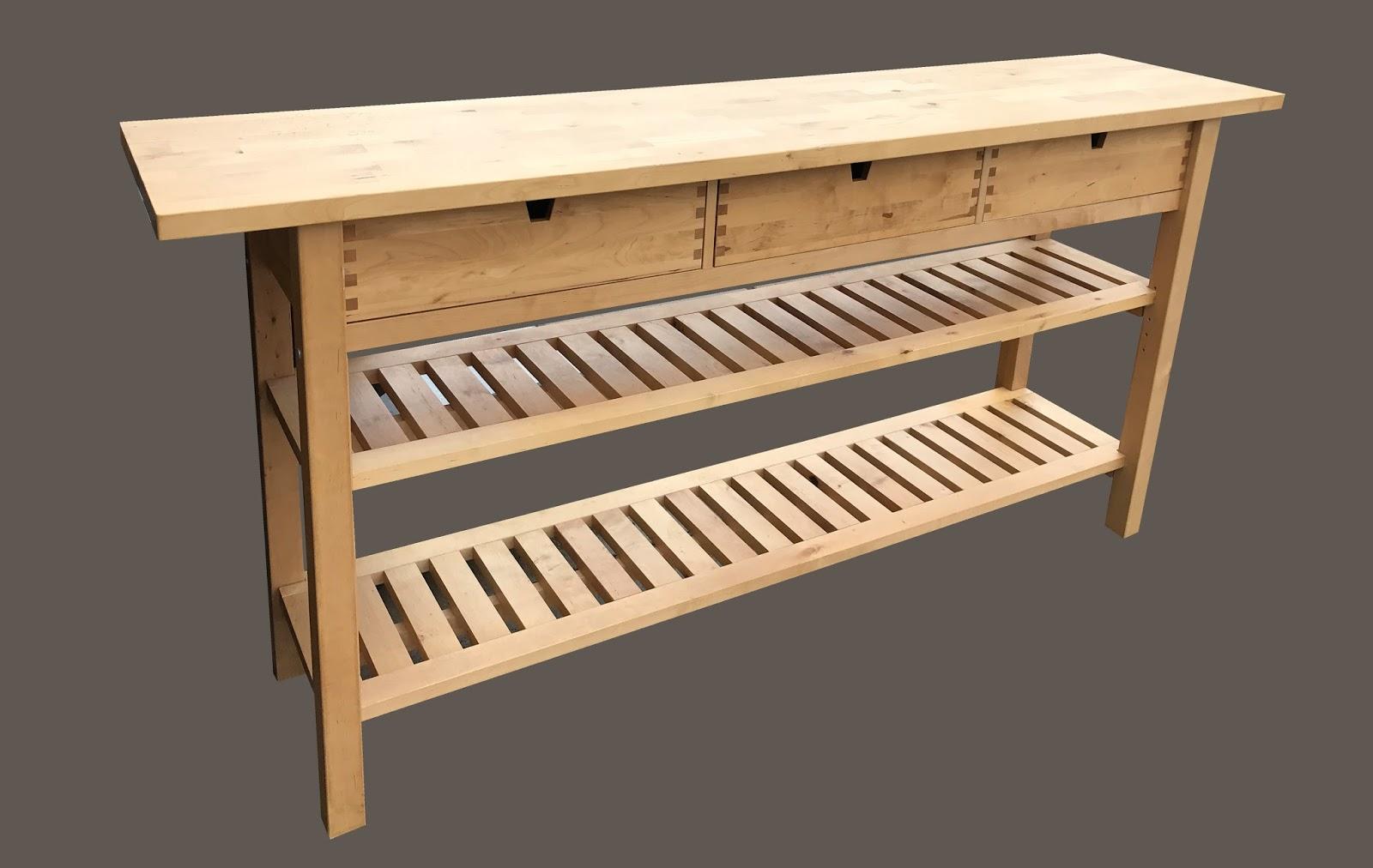 Large 3 Drawer Blonde Wood Ikea Kitchen Island 195 155 Sold