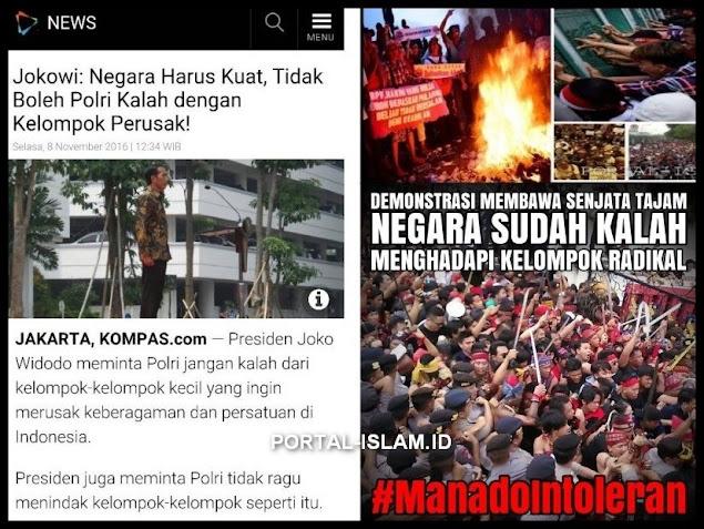 Aksi Simpatisan Ahok Menolak Kedatangan @Fahrihamzah di Manado, Sulut. Ketika yg Paling Bhineka Berubah Radikal!!!