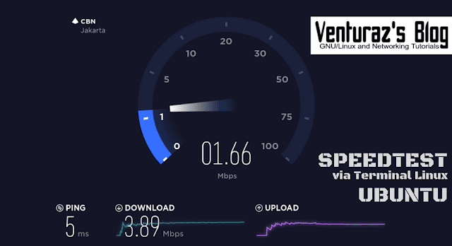 Speedtest via Terminal Linux Ubuntu