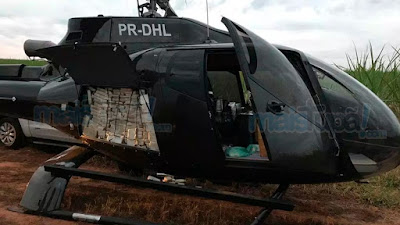 Helicóptero com cocaína Presidente Prudente