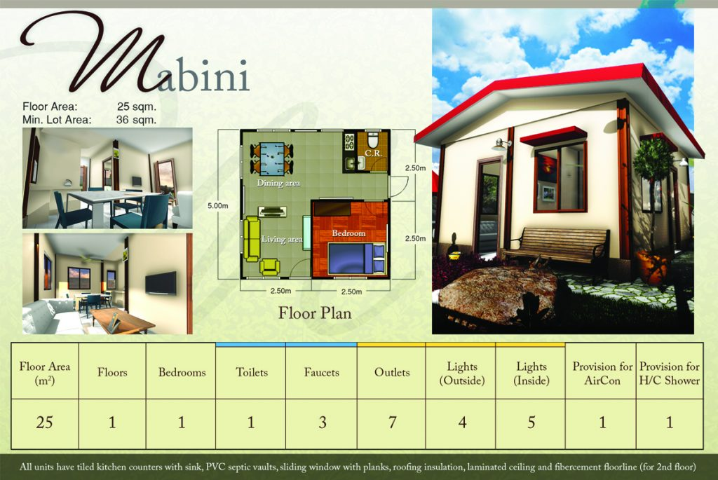 RIZAL HOUSE MODEL: ESTIMATED PRICE P1.3M (PRICES MAY CHANGE ACCORDING TO  THE DISCRETION OF THE BUILDER.)