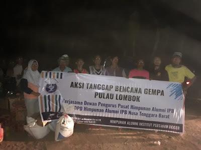 Aksi Tanggap Bencana gempa Lombok dari DPP HA IPB