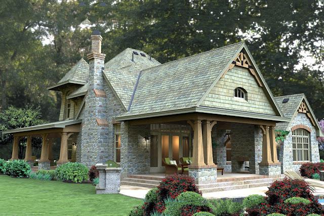 projekt domu w stylu amerykańskim weranda