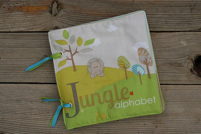 Jungle alphabet fabric book tomtoy handmade