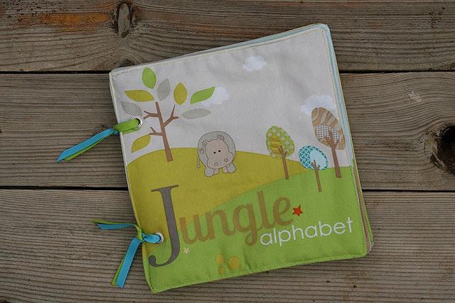 Jungle alphabet fabric book tomtoy handmade