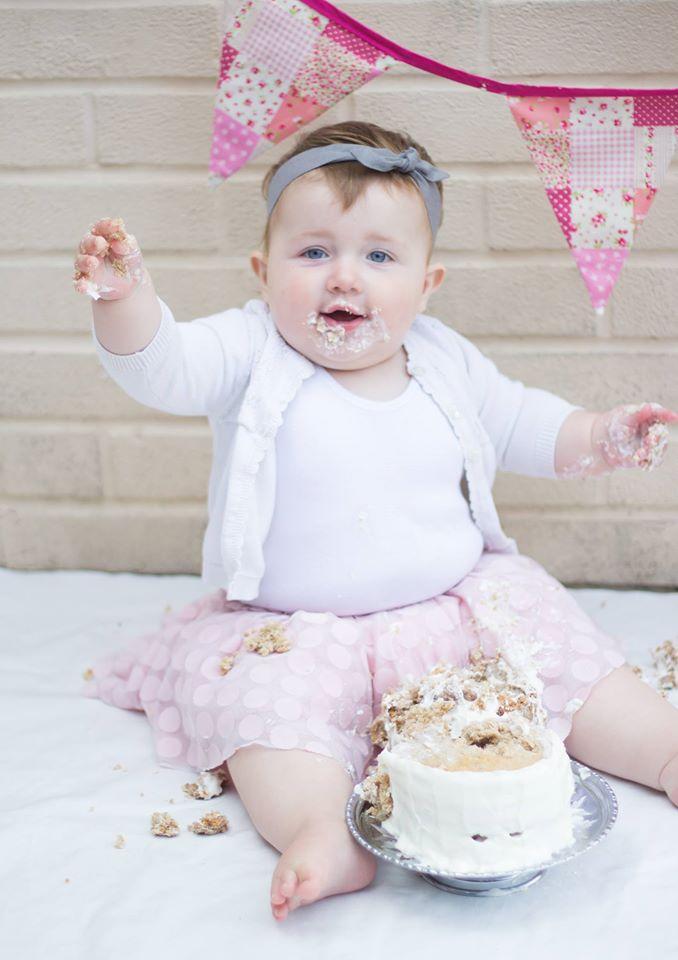 1 year update baby girl cake smash
