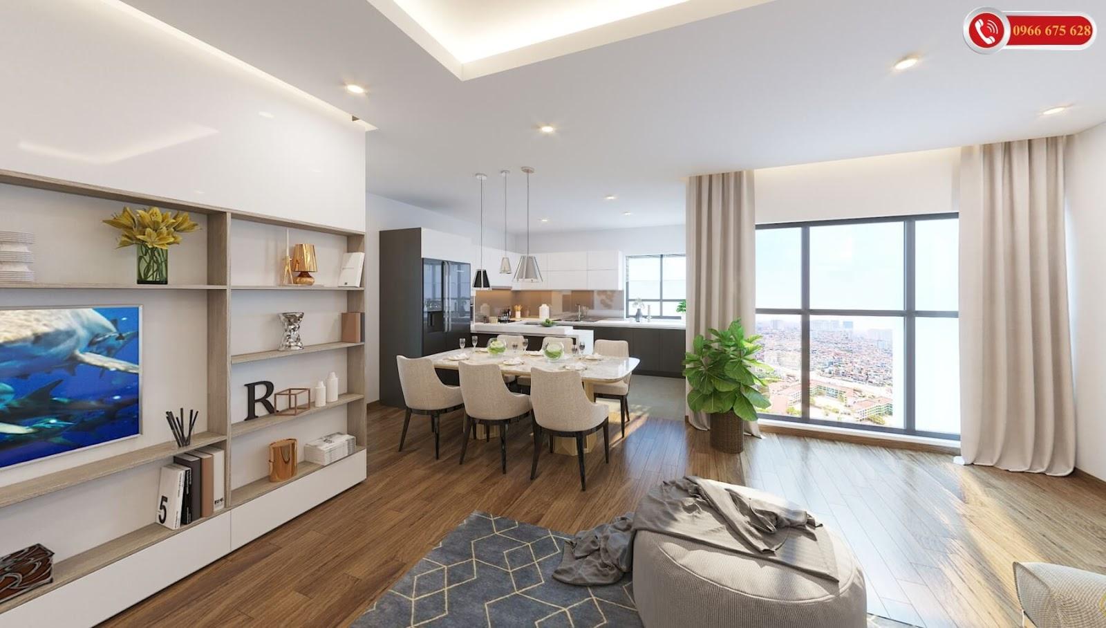 Nội thất căn hộ cao cấp chung cư Amber Riverside
