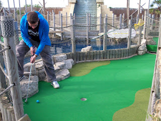 At Lost World Adventure Golf in Hemsby