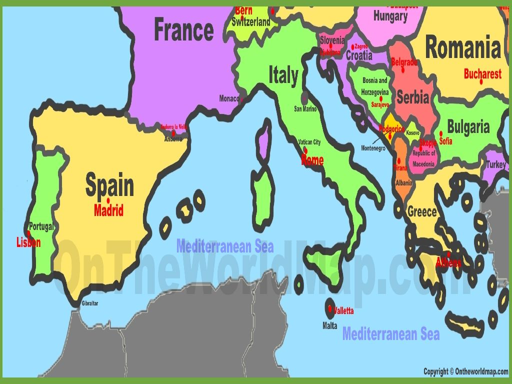 map of southern europe countries Usa Map 2018: Map Of Southern Europe Countries