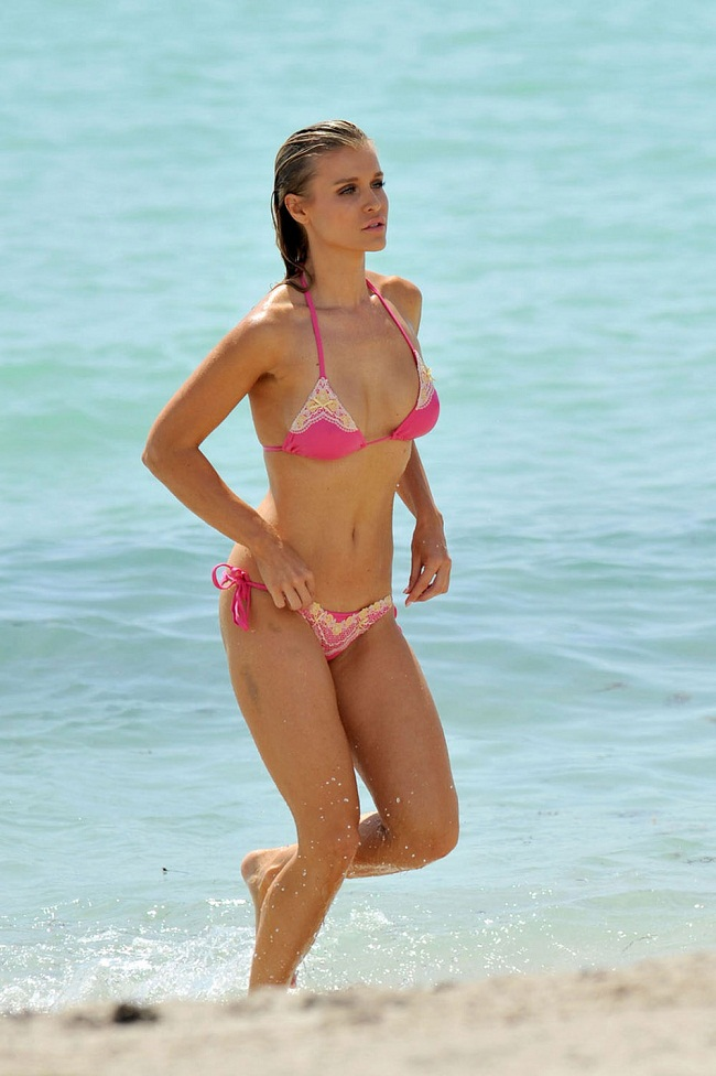 Joanna Krupa in Bikini on the Beach in Miami