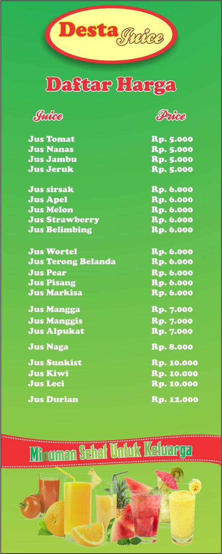 Download template Gratis Spanduk Bisnis Jus (Juice) Buah ...