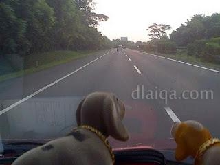 kondisi jalan tol menuju Merak