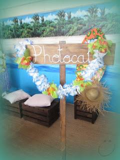 photocall hawaiano casero