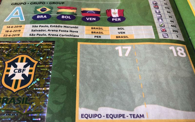 El escudo de Brasil en el album Panini de la Copa America 2019