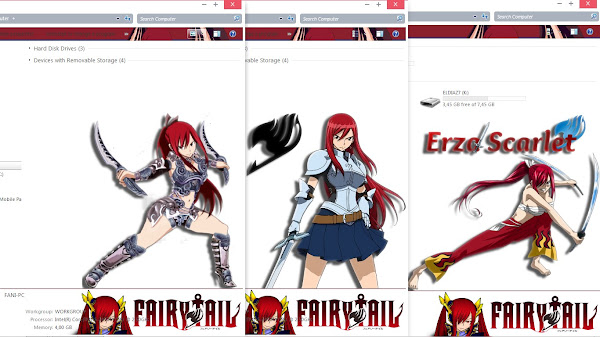 [Theme Win 7] Fairy Tail – Erza Scarlet by Eldiaz7 5