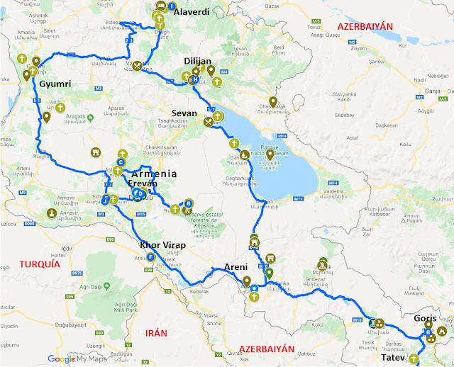 imagen de mapa de Armenia