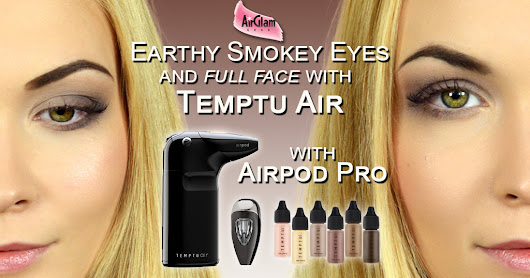 How to airbrush eyeshadow with Temptu Air and Airpod Pro: Earth Stone Collection Video Tutorial
